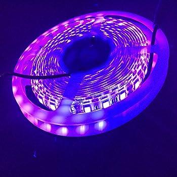 blacklight uv led strip 16ft 5050smd waterproof ultraviolet blacklight night light 395 405nm. Black Bedroom Furniture Sets. Home Design Ideas