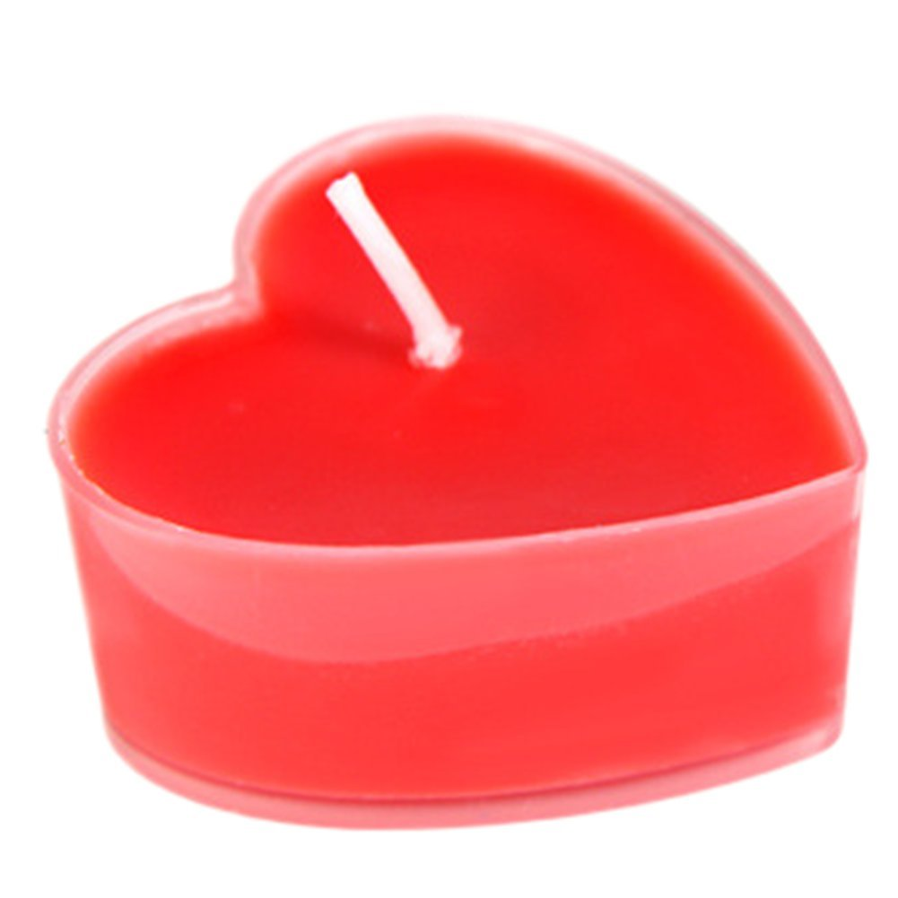 Hosaire Candles 9 Pcs Smokeless Heart Shaped Romantic Love Candle Bulk for Wedding,Birthday,Party,Halloween,Christmas,Festival Red