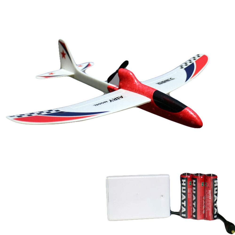 Ycco Foam Throwing Glider Airplane, GreatestPAK Hand Launch Inertia Plane Model Toy Gift for Children Home Decoration Collection Flight Mode Outdoor Sports Flying (Color : Red) by Ycco (Image #1)