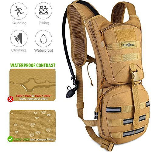Rexsoul Hydration Backpack 1000 D with 2.5 L Bladder Leak-Proof Water Pack with Reflective Strips Design for Outdoor Sports Hiking | Running | Biking | Climbing | Walking | Cycling |Skiing
