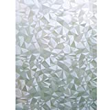 Bloss Static Cling Cut Glass Decorative Vinyl Window Film Window Decals17.7 Inches By 78.7 Inches