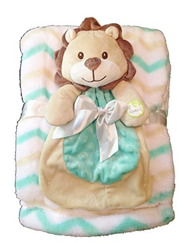 Baby Gear 2-Piece Set With Lion Blankie and Large Matching Blanket by Cutie Pie Baby