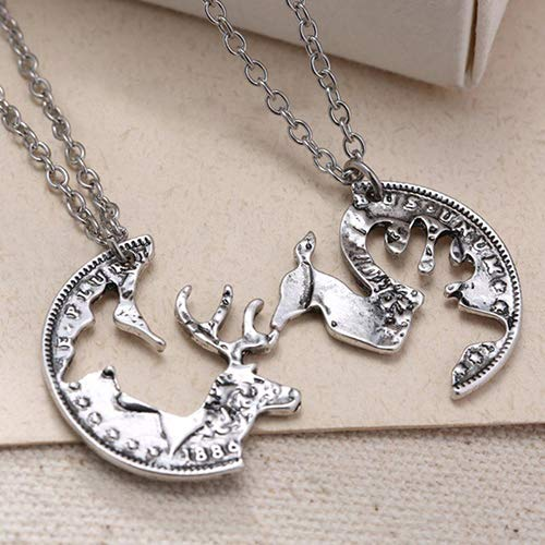 Necklace Opeof 2Pcs Unisex Lover