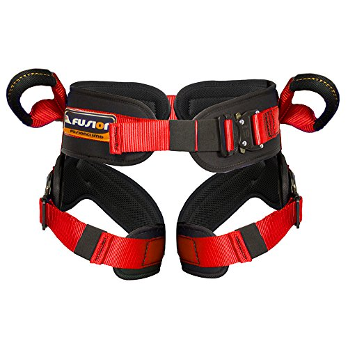 Fusion Climb Rebounder Kids Padded Half Body Bungee Trampoline Harness Red S-M by Fusion Climb