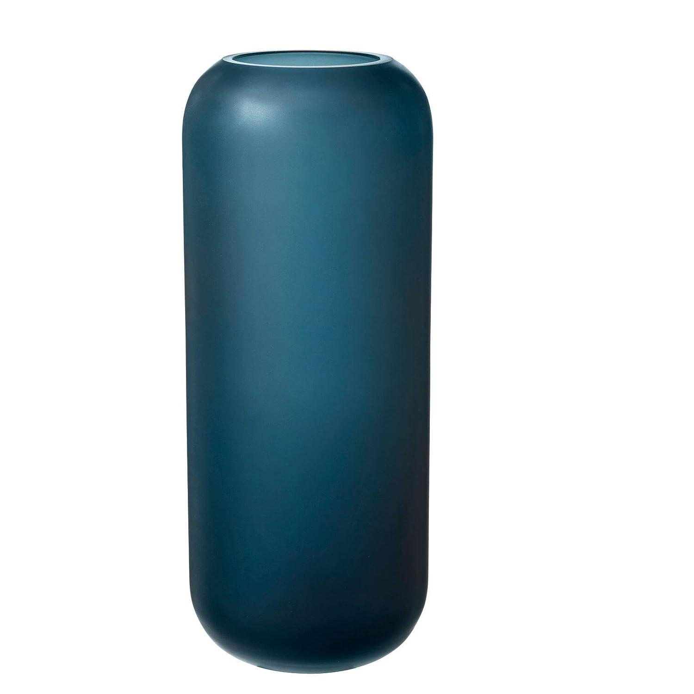 Blomus - Vase - Blumenvase - OVALO - Glas - Blau Blau - Ø 11,5 cm