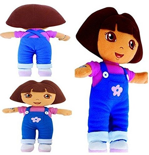 New DORA THE EXPLORER Kids Girls Soft Cuddly Stuffed Plush Toy Doll free (Sucker Punch Pokemon)