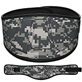 "ProFitness Neoprene Weight Lifting Belt 6"" Back Support, Perfect for Cross Training, Olympic Lifting, for Men and Women (Gray Camo, Medium, 32"" - 36"" Around Waist)"