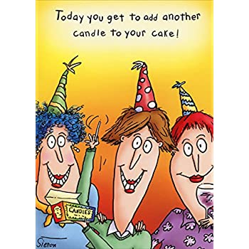 Add Another Candle Oatmeal Studios Funny 80th Birthday Card For Her