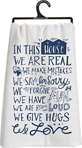 Primitives by Kathy LOL Tea Towel House Rules ()