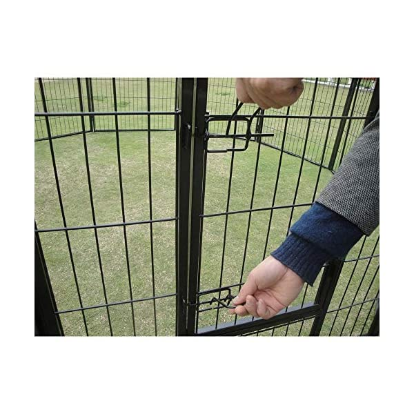 10 x 1200 Tall Panel Pet Dog Cat Exercise Play Pen Enclosure – Animal Protection Playpen Toilet Training with Secure and… Click on image for further info. 2