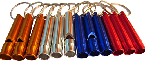Emergency Whistle Keychain LeBeila Camping Survival Whistle Bulk For Kids & Adults, Aluminum Alloy Whistle Key Chain Light And Practical Tool For Climbing/ Hiking & Other Outdoors
