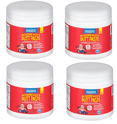Boudreauxs Butt Paste Diaper Rash Ointment, jGaQvF, Maximum Strength - Contains 40% Zinc Oxide - Pediatrican Recommended - Paraben and Preservative-Free - 4Pack (14 Ounce) by Boudreaux's Butt Paste
