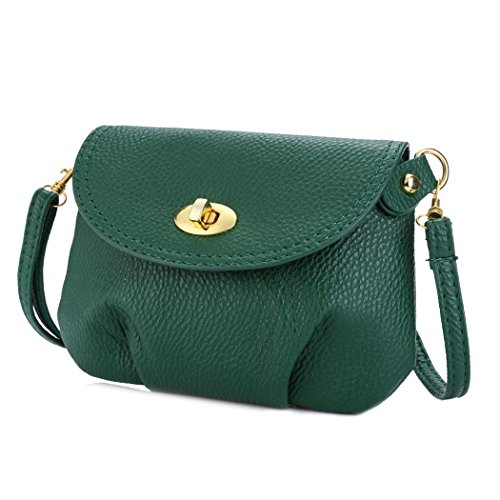 Crossbody Bag Handbag Green FUNOC Shoulder Mini Women's Casual Solid BwqC7Y0