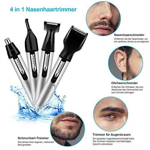 4-1 Barttrimmer Nasenhaarschneider Nasenhaartrimmer Nasen Haar Ohrhaarentferner