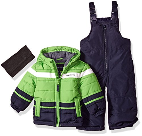 London Fog Baby Boys 2-Piece Snow Pant & Jacket Snowsuit, Green, 12M