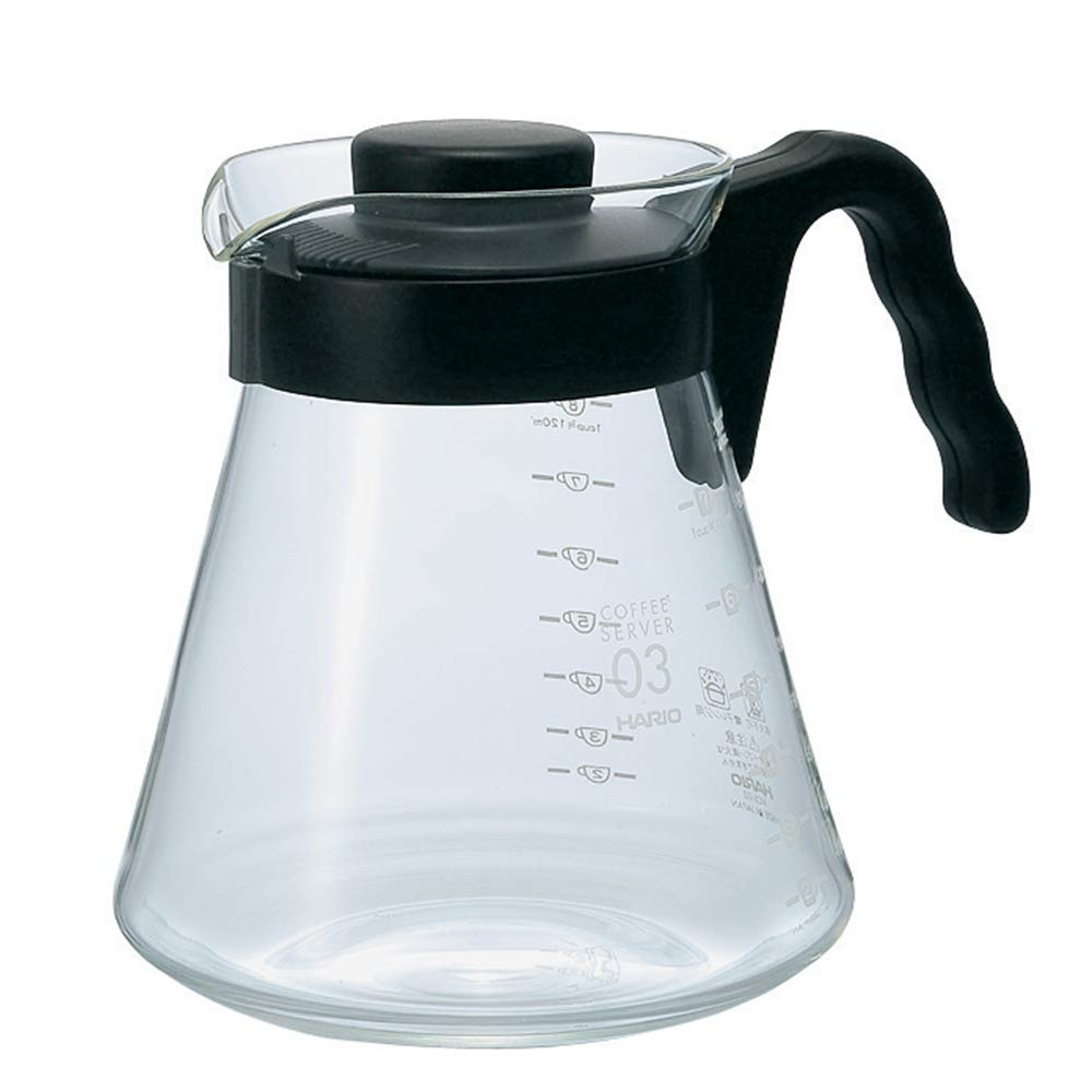 Hario V60 Glass Coffee Server, 1000ml, Black