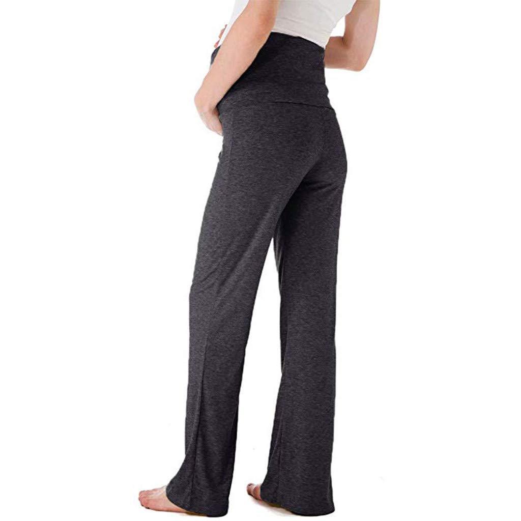 Premam/á Invierno Leggins Abrigos Pantalones Rectos Anchos De Maternidad para Mujer Pantalones El/áSticos De Embarazo