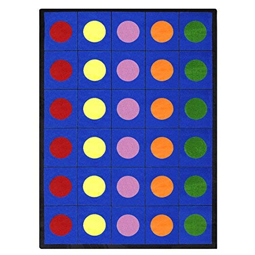 Joy Carpets Kid Essentials Early Childhood Lots of Dots Rug, Multicolored, 7