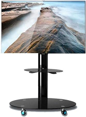 HANG Carro Universal para TV, Soporte para televisor de 32-65 Pulgadas LCD LED Tvs 360º de Giratorio con Ruedas móvil con Base de Vidrio Templado: Amazon.es: Hogar