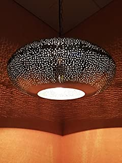 Orientalische Lampe Pendelleuchte Silber Asifa 27cm E27 ...