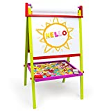 Little Artists 3-in-1 Standing Easel with 75 Magnetic Letters, Rainbow Chalk, Eraser, and Easel Paper by Imagination Generation