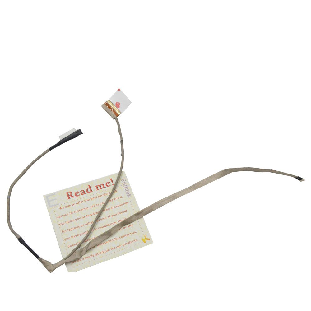 Eathtek Replacement LCD LVDS Cable for Dell Inspiron 3521 3537 3737 5521 5537 5737 15R series, Compatible with part# 0TC8Y3 TC8Y3 DC02001SI00 DC02001MG00