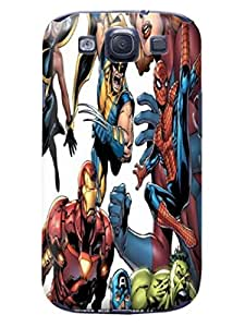 Faustino Olea Funny cartoon colorful world tpu skin case cover for Samsung Galaxy s3 (Marvel Comic Harley Quinn)