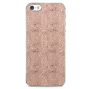 iPhone SE Transparent Edge Phone case Gold And Beige Phone Case Elegant Gold Pattern iPhone SE Cover with Transparent Frame