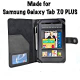 Samsung Galaxy Tab 7.0 Plus 7-Inch Tablet Black Leather Executive Folio Case / Cover