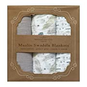 Manhattan Kids Vintage Three Pack of Muslin Swaddle Blankets by Manhattan Kids Vintage