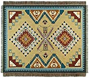 Peel Forest Rug Navajo Tribal Throw Blanket Cotton Woven Aztec Couch Throws Sofa Chair Picnic Beach mat…