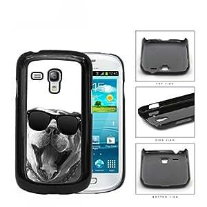 Bulldog Wearing Wayfarer Glasses Grayscale Hard Plastic Snap On Cell Phone Case Samsung Galaxy S3 SIII Mini I8200