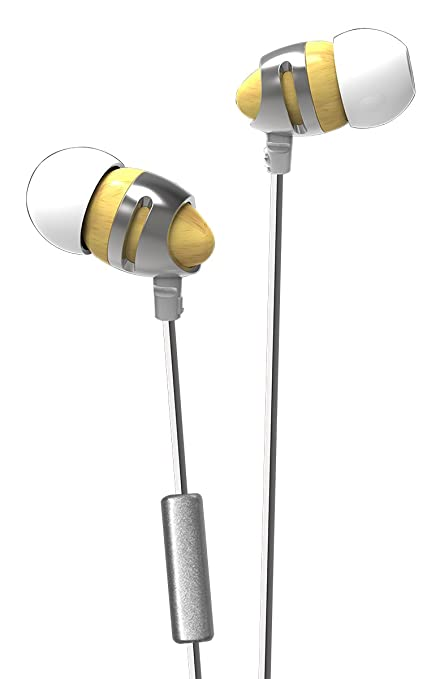 Amazon com: INSHED IC 210 Earbuds | Wood In-ear Noise