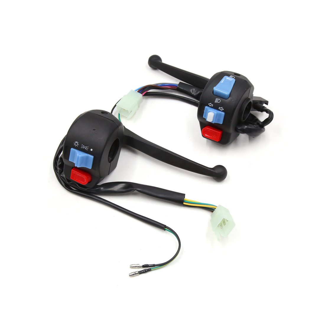 uxcell Pair Motorcycle Handlebar Horn Turn Signal Light ON/OFF Control Switch for GY6 150cc