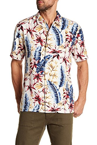 Tommy Bahama Jungle Punch Silk Camp Shirt (Color: Continental, Size ()