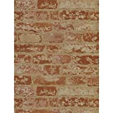 York Wallcoverings Wall In A Box BZ9206 Stuccoed Brick Wallpaper  - Ultra Removable