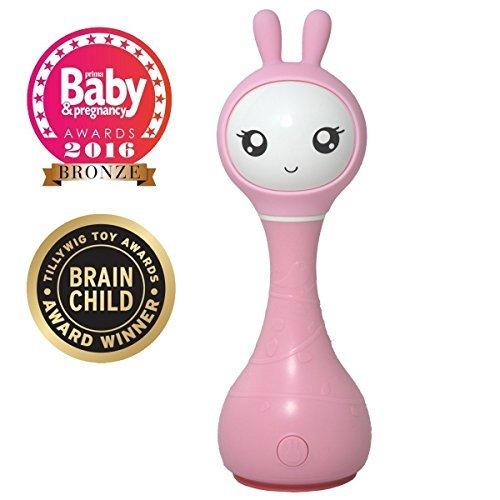 Intelligent baby Rattle Alilo Smart Bunny Smarty best baby gift Media Player Shake & Tell - Pink by Alilo by Alilo