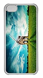 iPhone 5C Case, Personalized Custom The Whisper Of Wind for iPhone 5C PC Clear Case