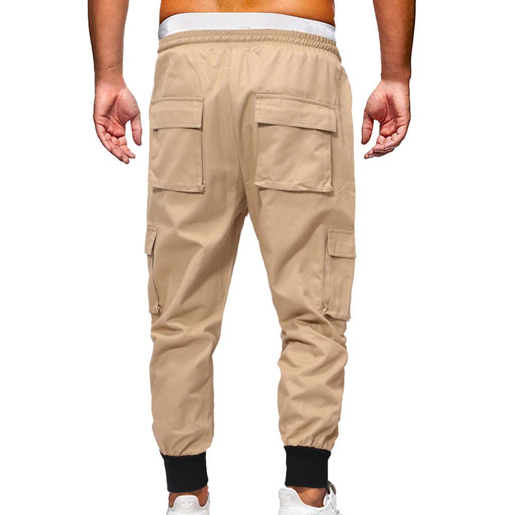 Palarn Sports Pants Casual Cargo Shorts Fashion Mens Sport Jogging Pant Casual Loose Jeans Sweatpants Drawstring Pant