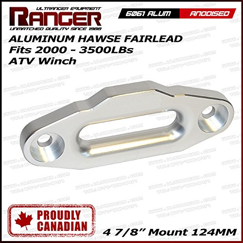 Ranger ATV Aluminum Hawse Fairlead for Synthetic Winch Rope Cable Lead Guide For 2000-3500 LBs ATV Winch 4 7/8