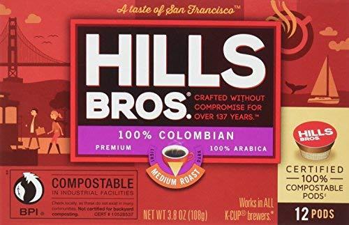 Hills Bros Coffee 100% Colombian Medium Roast Single Serve Coffee Cups 12 Count (Pack of 6) [並行輸入品]   B07N4MGYJ8