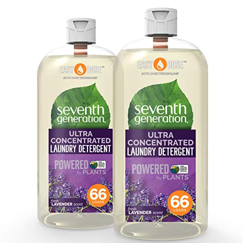 Seventh Generation Laundry Detergent, Ultra Concentrated EasyDose, Fresh Lavender, 23 oz, 2 Pack (132 Loads)