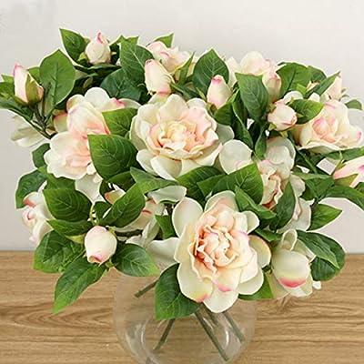 Yinhua 3 Packs Artificial Gardenia Flower Artificial Flower Blooming  Artificial Flower Bouquet for Home Wedding Arrangement Decoration