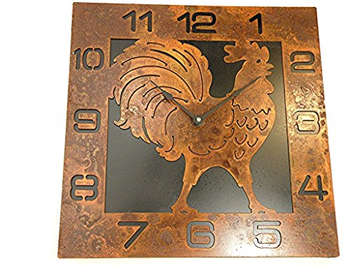 rustic chicken clock - 5