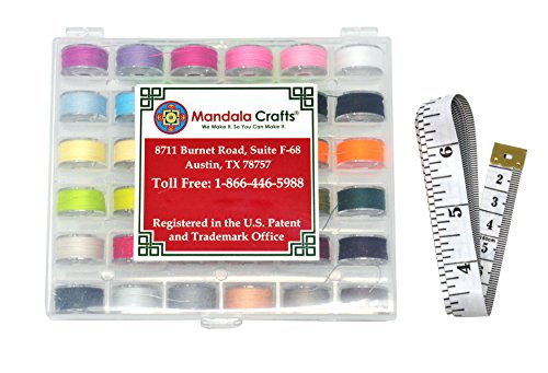 Mandala Crafts Prewound Embroidery Sewing Thread Bobbin instance guide for Brother Babylock Singer model 36 Colors Bobbins