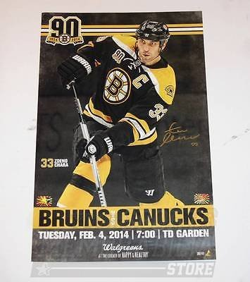 Zdeno Chara Boston Bruins Signed Autographed 90th Game Day Roster Poster
