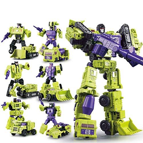 WEIJIANG GT Engineering Devastator Green Combiner 6 in 1 27CM Alloy Metal Toys Action (Transformers Toy Devastator)