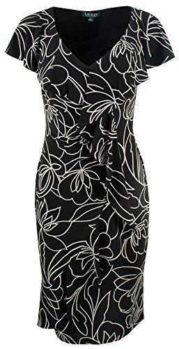 Lauren Ralph Lauren Women's Ruffled Jersey Dress-B-10 Black