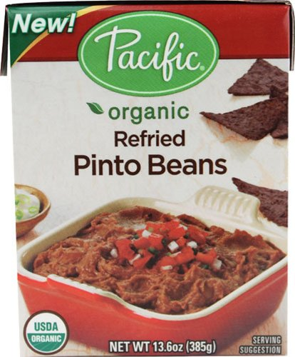 Pacific Foods Organic Traditional Refried Pinto Beans, 13.6-Ounce Boxes, (Pack of 12) by Pacific Foods