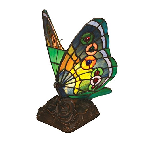 Chloe Lighting CH09B220NL 6.5-Inch Wide 1-Light Tiffany-Style Butterfly Light